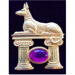 Vintage Parklane Anubis Egyptian Mythology Brooch